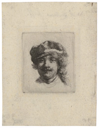 Self-Portrait Wearing a Soft Cap: Full Face, Head Single ('aux trois moustaches')