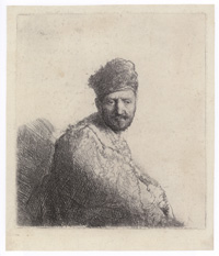 Bearded Man, in an Oriental Fur Cap                   and Robe: The Artist's Father