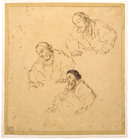 Three Studies of an Old Man
